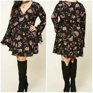 Forever 21 Plus Dark Floral Mini Dress